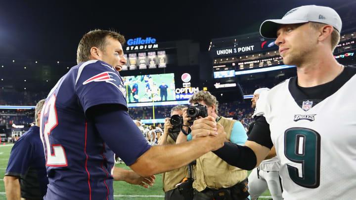 Tom Brady and Nick Foles.