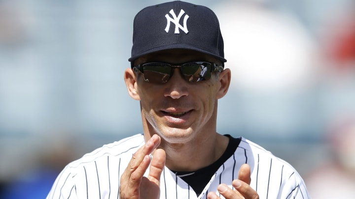 TAMPA, FL - MARCH 4: New York Yankees manager Joe Girardi looks on before the game against the Philadelphia Phillies at George M. Steinbrenner Field on March 4, 2015 in Tampa, Florida. The Phillies defeated the Yankees 3-1. (Photo by Joe Robbins/Getty Images)