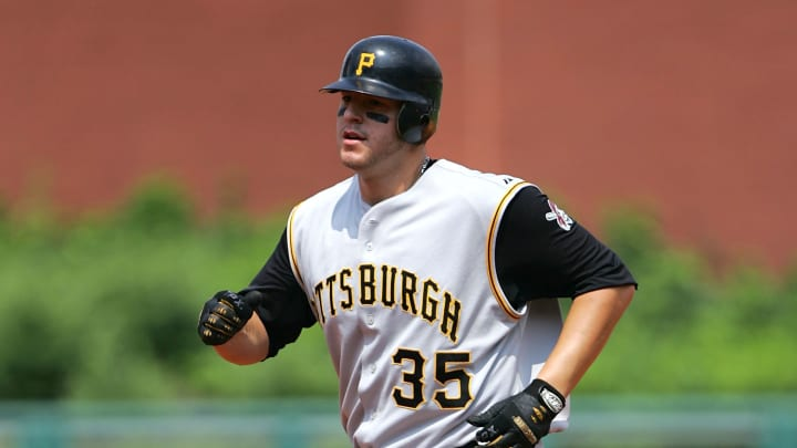 Pittsburgh Pirates first baseman Brad Eldred