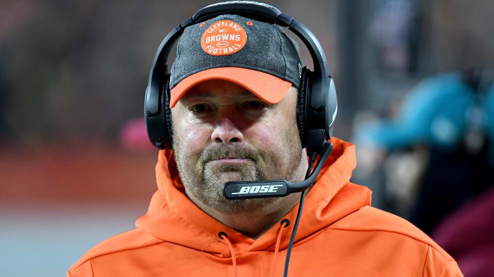 CLEVELAND, OHIO - NOVEMBER 14: Head coach Freddie Kitchens of the Cleveland Browns looks on from the sidelines during the game against the Pittsburgh Steelers at FirstEnergy Stadium on November 14, 2019 in Cleveland, Ohio. (Photo by Jason Miller/Getty Images)