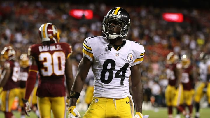 Antonio Brown playing against the Redskins during his time with the Steelers