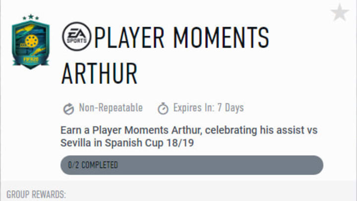 EA Sports released a Player Moments Arthur during FIFA 20 Future Stars