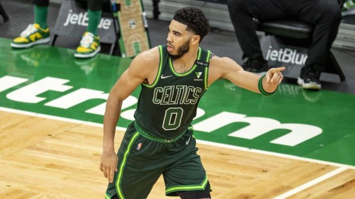 Jayson Tatum fue el mejor anotador de los Celtics en el juego del domingo contra los Blazers