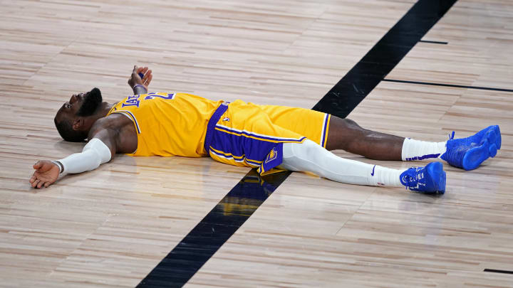 LeBron James gets some rest, bubble style.