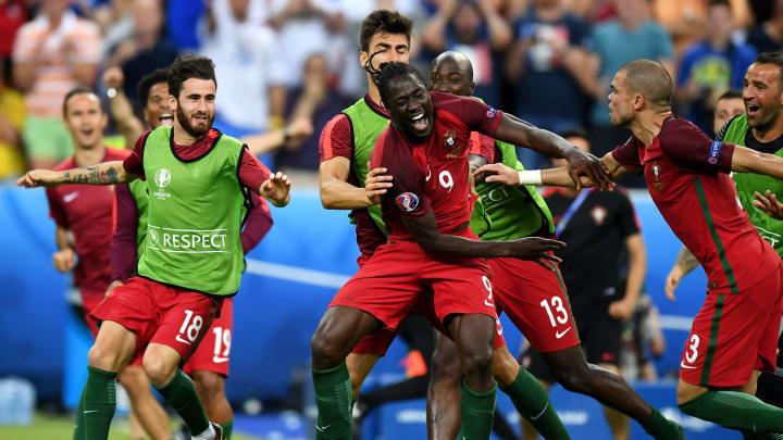 Portugal celebrate Eder's winner