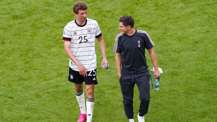 Thomas Muller picked up a knee injury during the weekend's victory over Portugal