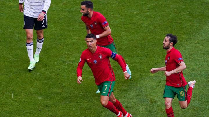 Cristiano Ronaldo, Bruno Fernandes, Bernardo Silva