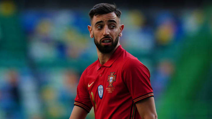 Bruno Fernandes came on in the second half
