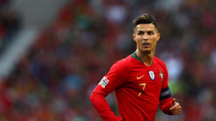 PORTO, PORTUGAL - JUNE 09:  Cristiano Ronaldo of Portugal looks on during the UEFA Nations League Final between Portugal and the Netherlands at Estadio do Dragao on June 09, 2019 in Porto, Portugal. (Photo by Dean Mouhtaropoulos/Getty Images)