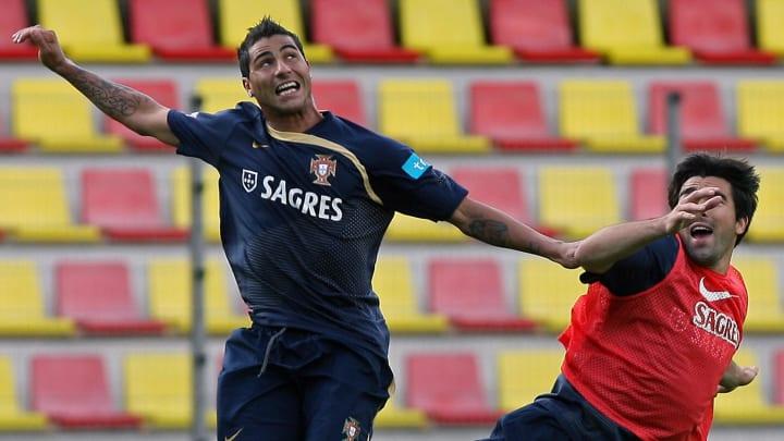 Portugal's Ricardo Quaresma (L) and Ande