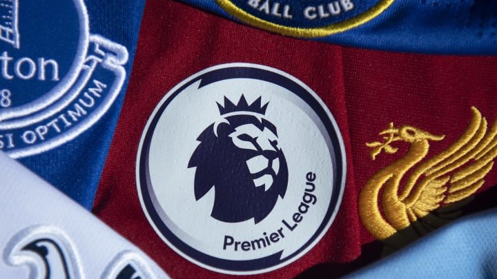 Premier League Logo With Club Shirts