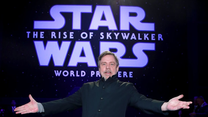 Mark Hamill recalls one line from 'Star Wars: A New Hope' that was unscripted.