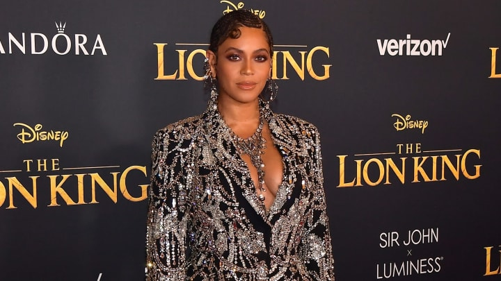 Beyoncé at the 'Lion King' premiere in 2019