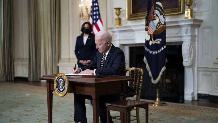 President Joe Biden has ordered a review of semiconductor chip supply chains.