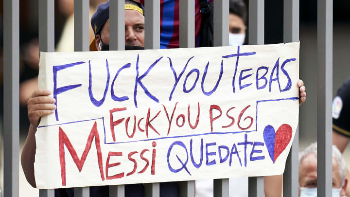 Viele Barça- Fans haben den Messi-Abgang immer noch nicht verdaut