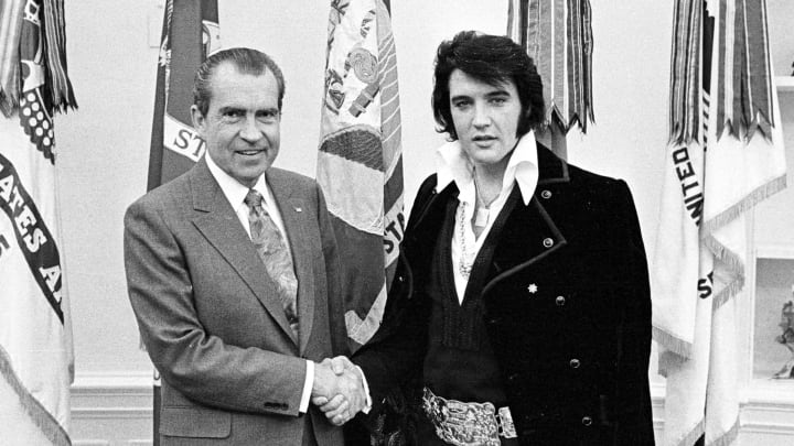 Elvis with a former President.