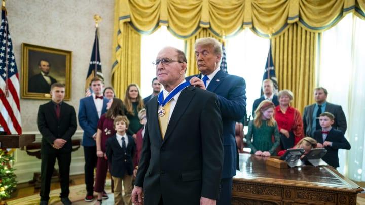 President Trump Awards Presidential Medal Of Freedom To Wrestler Dan Gable