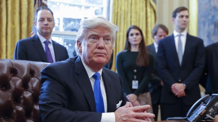 Jared Kushner, Hope Hicks, Reince Priebus, Donald Trump