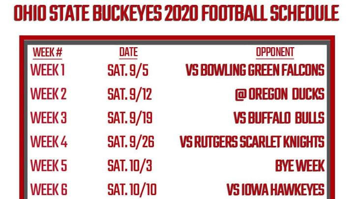 Printable Ohio State Football Schedule 2020 PDF.