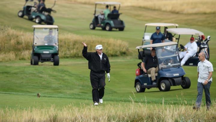 Donald Trump on a previous golf trip.