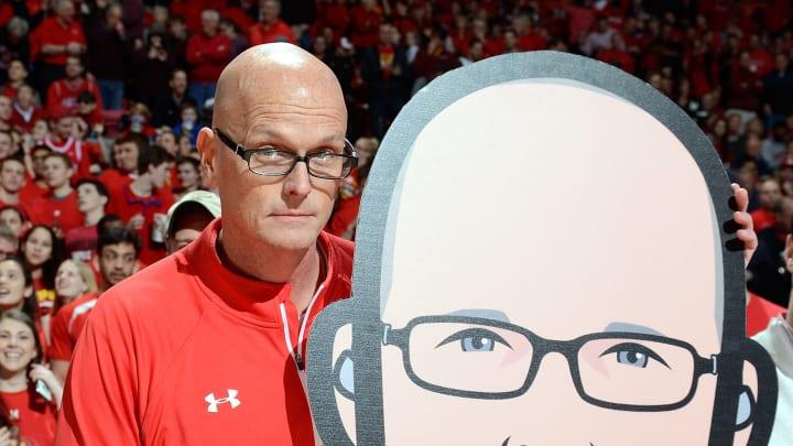 Scott Van Pelt and a fan.