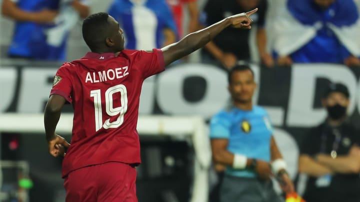 Ali Almoez auteur d'un doublé en quart de finale contre le Salvador