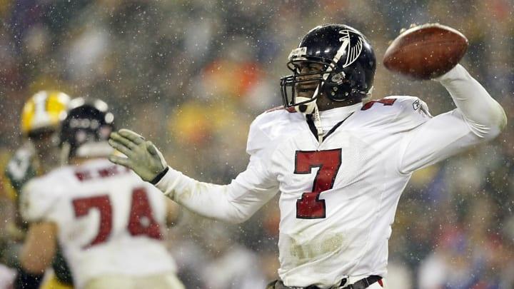 MIchael Vick with the Atlanta Falcons.