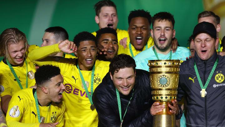 Die Dortmunder freuten sich riesig über den Pokalgewinn