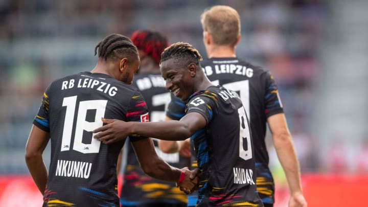 Christopher Nkunku, Amadou Haidara RB Leipzig Bundesliga Champions League
