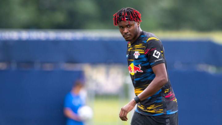 Mohamed Simakan RC Strasbourg Alsace Ligue 1 RB Leipzig André Silva