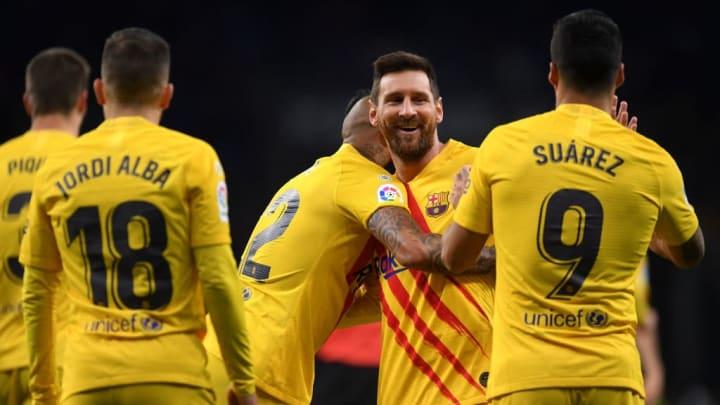 Arturo Vidal, Lionel Messi, Luis Suarez