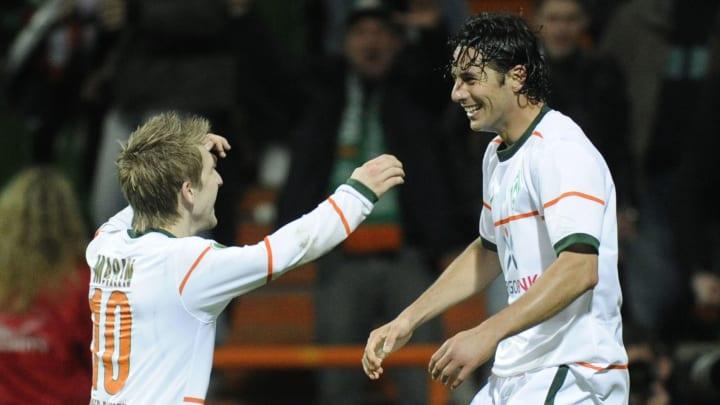 Erzielten im DFB-Pokal-Halbfinale 2010 jeweils einen Treffer: Marko Marin & Claudio Pizarro