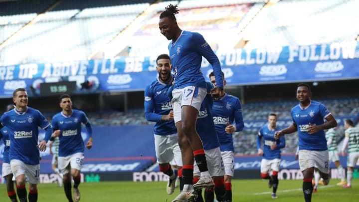 Rangers celebrate taking the lead