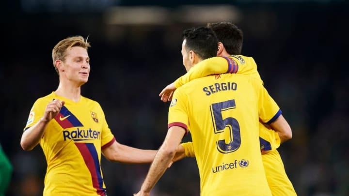 Sergio Busquets, Lionel Messi, Frenkie de Jong