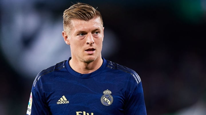 Toni Kroos in the away colours of Real Madrid