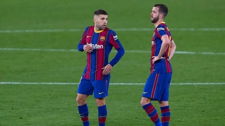 Jordi Alba et Miralem Pjanic pourraient quitter Barcelone.