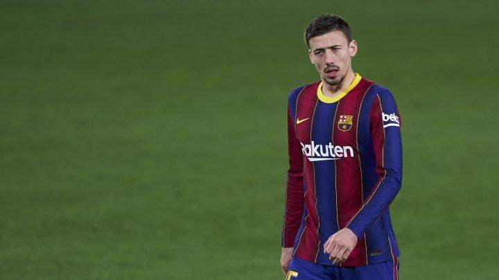 Lenglet no está completando una buena temporada con el Barcelona