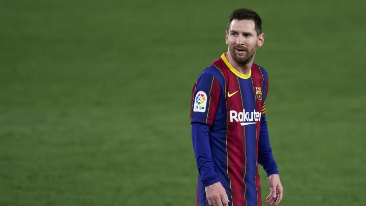 Lionel Messi has been linked with Man City recently