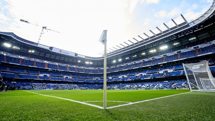 The Santiago Bernabeu is being redeveloped