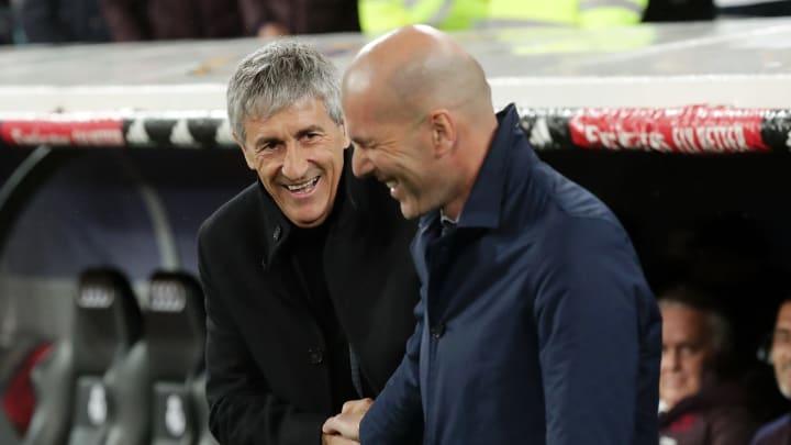 Quique Setien, Zinedine Zidane