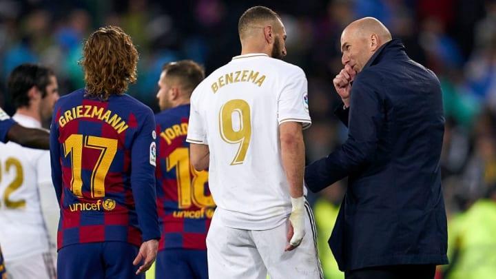 Zinedine Zidane, Manager of Real Madrid, Karim Benzema