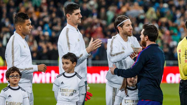 Carlos Henrique Casemiro, Thibaut Courtois, Sergio Ramos, Lionel Messi