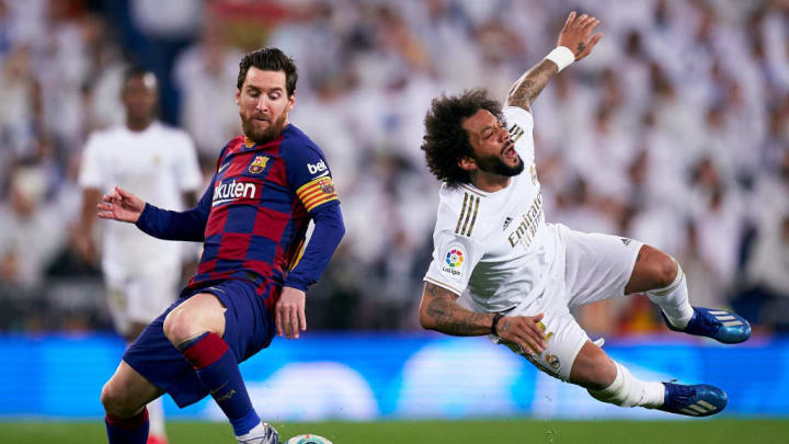 Lionel Messi and Marcelo face off in the 2020 Clasico