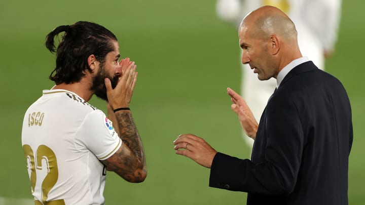 Isco and Zinedine Zidane's relationship appears to have become somewhat strained