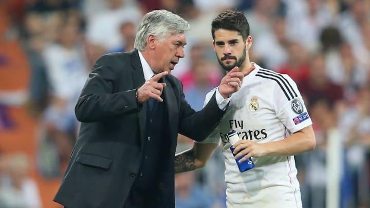 Knüpfen sie an die guten alten Zeiten an? Carlo Ancelotti und Isco während der ersten Etappe des Italieners bei Real Madrid