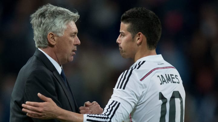 Ancelotti admitted he is a fan of Rodriguez