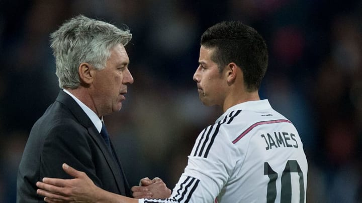 Ancelotti and Rodriguez worked together at Real Madrid