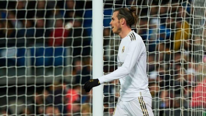 Gareth Bale playing for Real Madrid in La Liga.