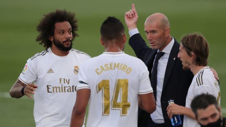 Zinedine Zidane, Marcelo, Carlos Casemiro, Luka Modric