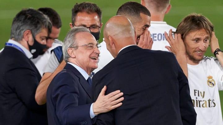 Zinedine Zidane, Manager of Real Madrid, Florentino Perez